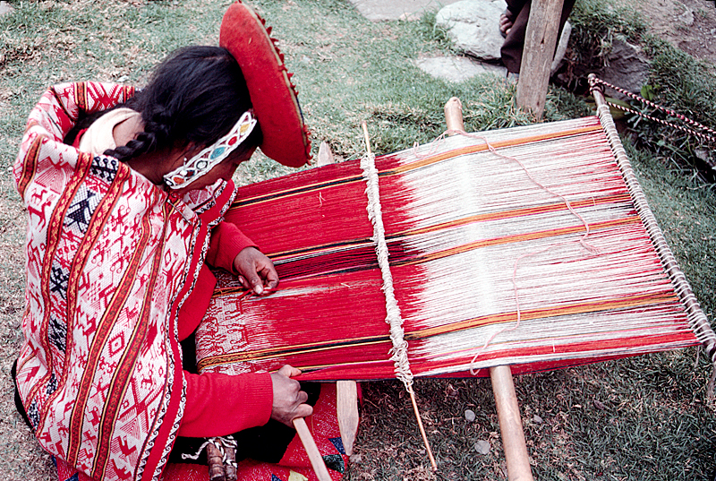 Weaver of the Altiplano Weaving